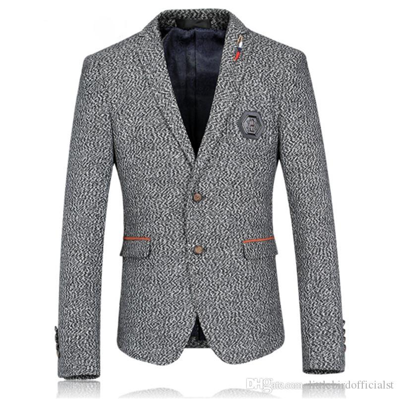 Men Jacket Blazer High Quality Brand Casual Business Blazer Suit Autumn Winter Plus Size Fashion Wedding Suit Jacket