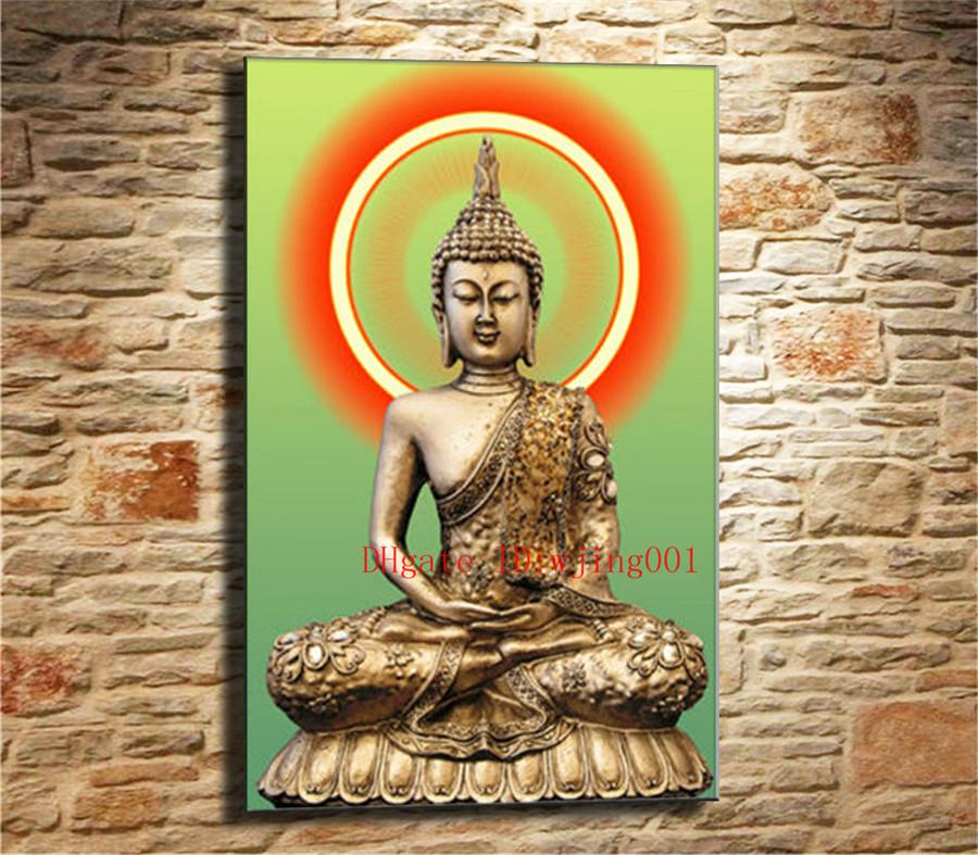 Buda de ouro, Peças de Lona Decoração de Casa HD Impresso Arte Moderna Pintura sobre Tela (Sem Moldura / Emoldurado)
