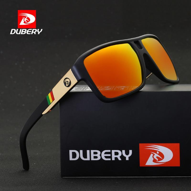 DUBERY HD 편광 선글라스 클래식 남성용 항공 운전 썬 안경 남성 여성 스포츠 낚시 Oculos UV400