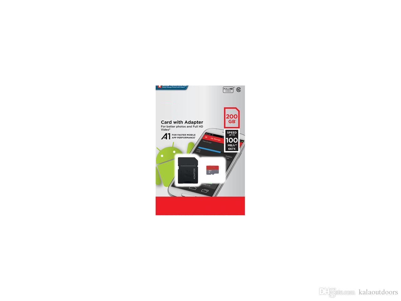 베스트 셀러 울트라 A1 32GB 64GB 128GB 200GB 256GB 98MB / s UHS-I DHL Federal Express 송료 무료