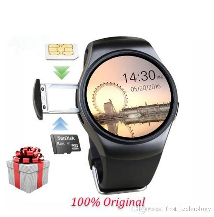 Newest Original KW18 Full Round IPS Heart Rate Smart Watch MTK2502 BT4.0 Smartwatch for ios and Android Samsung Intelligent Watch