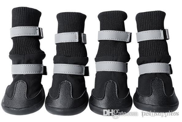 High quality Large Dog shoes Supplies Big Dogs Boots Waterproof Non-slip Accessories Pet Products S M L XL 4pcs/set Free Shipping