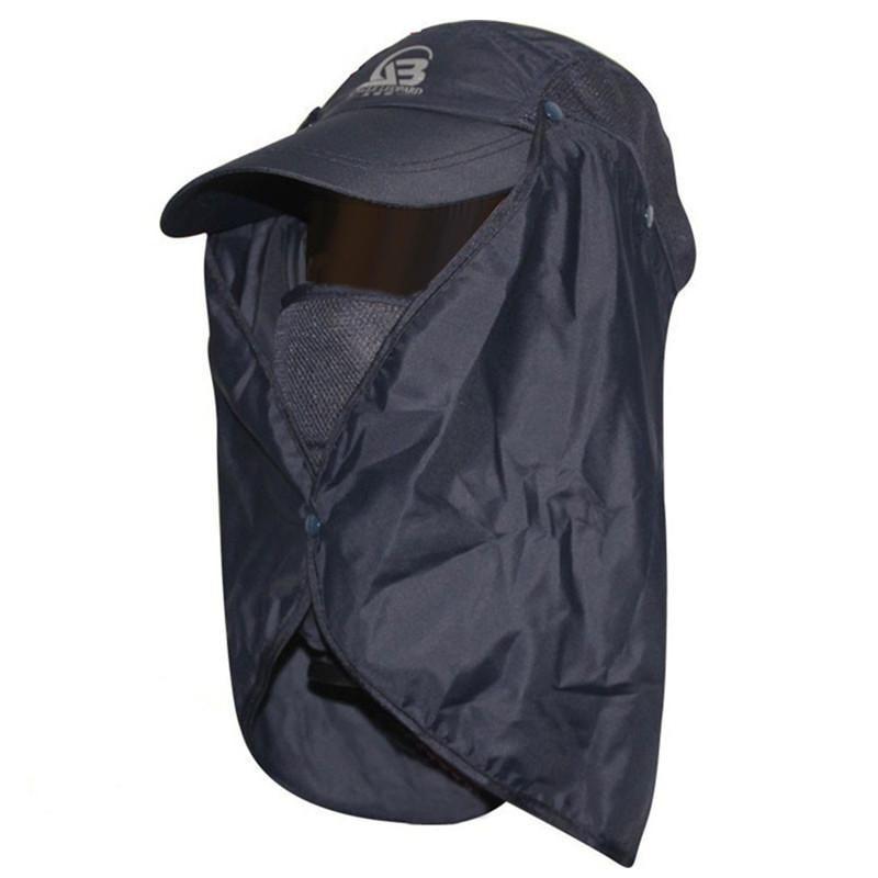 자외선 보호 바이저 낚시 모자 통풍 태양 모자 이동식 목 양산 캠핑 캡 여성과 남성을위한