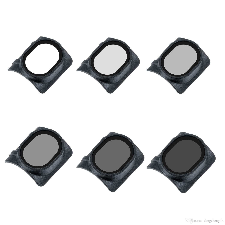 6 Stück Filter Set - CPL UV ND4 ND8 ND16 ND32, Polarisator Filter Adapter für DJI Spark Drone Quadcopter, aus optischem Glas