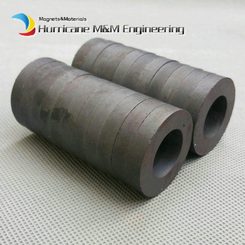 20 pcs Ferrite Magnet Ring OD 32x18x6 mm grade C8 Ceramic Magnets for DIY Loud speaker Sound Box board Sub-woofer