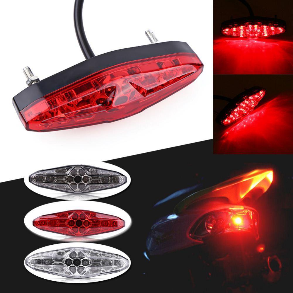 Led License Plate Lights for Motorcycle Turn Signal Light Brake 12V Light Moto