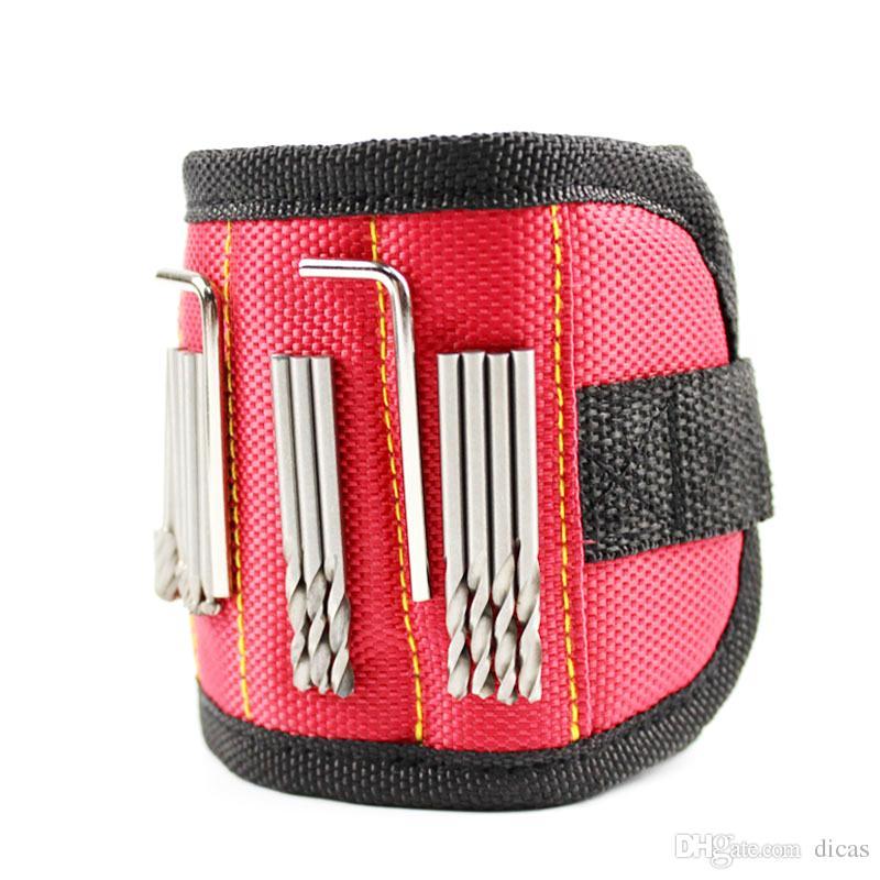 super chaud bracelet magnétique puissant perceuse électrique sans fil accessoire de stockage brassard bracelets de travail vis sdsorption 3pcs aimants