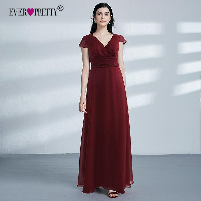 Ever-Pretty Robe de Soir/ée Demoiselle dhonneur Longue Femme 36 Rouge