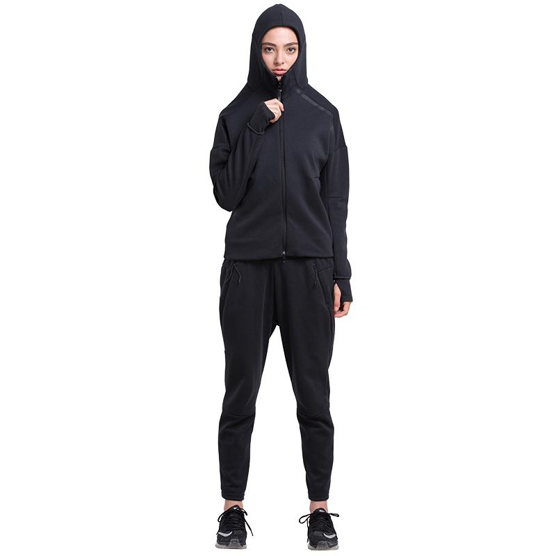 Hearui Vansydical Women Winter Thermal Runnning Set Fitness allenamento allenamento Zipper Felpa con cappuccio sportivo abbigliamento sportivo all'aperto