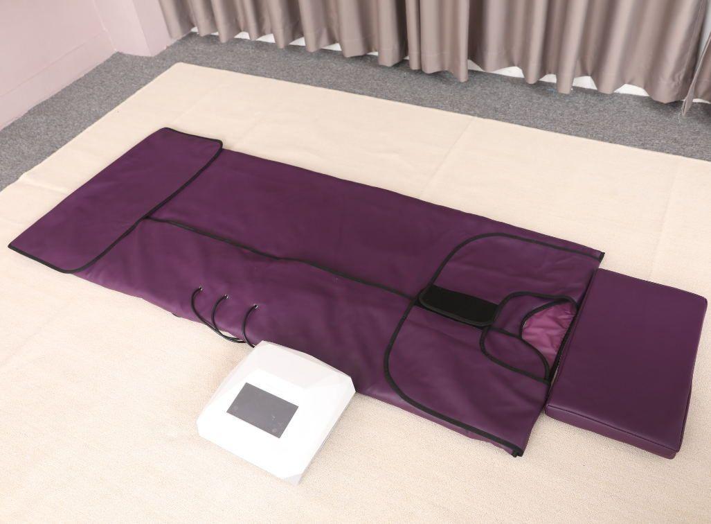 DHL libera la máquina infrarroja del abrigo del cuerpo de la sauna del infrarrojo lejano de 3 zonas para formar del cuerpo