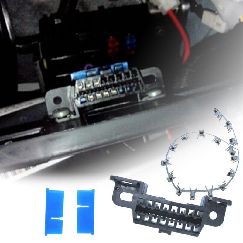 16pin obd2 connector OBD2 OBD 2 16Pin Female angle Connector OBD Female Wire Sockets Connector obd ii adapter Diagnostic Tools