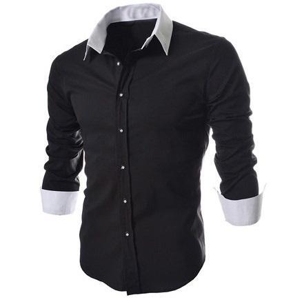 Men's Hoodies & Sweatshirts Autumn Fashion Tide-korean Mixed Colors Long Sleeve Leisure Slim Shirt