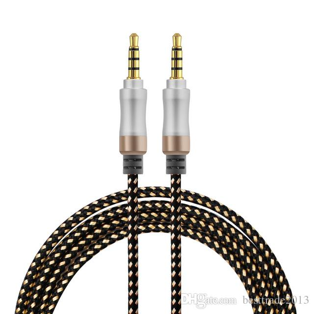 3.5 mm Aux Cable 4 Colors Audio Cable 3.5 mm Jack Male to Male Aux Cable For Car Headphone Stereo Speaker