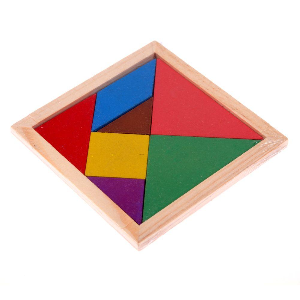 Popular Wooden Tangram Brain Teaser Puzzle Educational Developmental Kids Toy