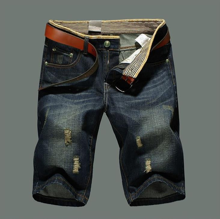 2017 Men Shorts Plus Size 38 New Brand Summer Men Jeans Shorts Fashion Designers Cotton Jeans Men's Slim