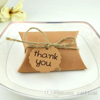 Kraft Vintage Boxes Brown Shabby Rustic Wrapping Gift Candy Boxes With Rope Wedding Favor