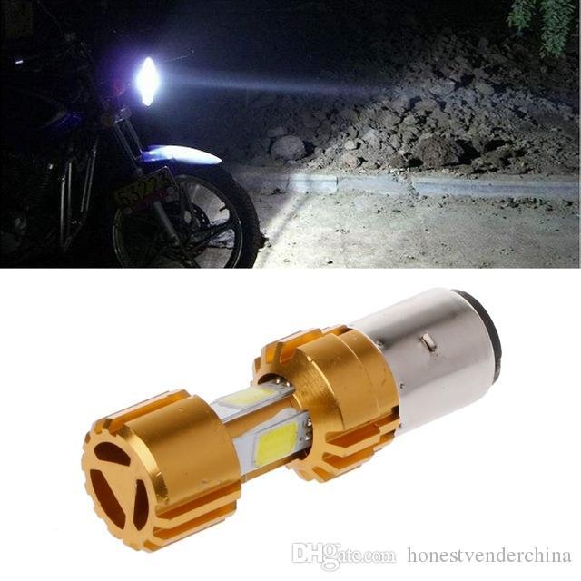 Luz del coche BA20D / H4 LED COB motocicleta bicicleta Hi / Lo faro bombilla DC10-80V 6000K 16W motocicleta bombillas