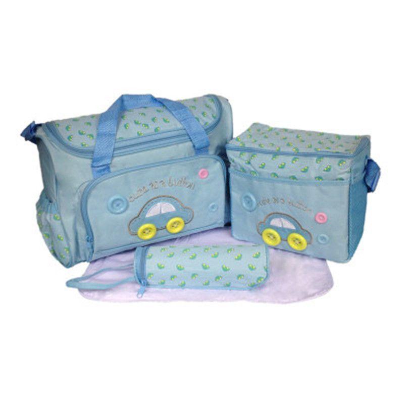 Mummy Bag Bottle Storage Multifunctional Waterproof Separate Bag Nappy Maternity Handbag Baby Tote Diaper Organizer 4 Pies suit K0434