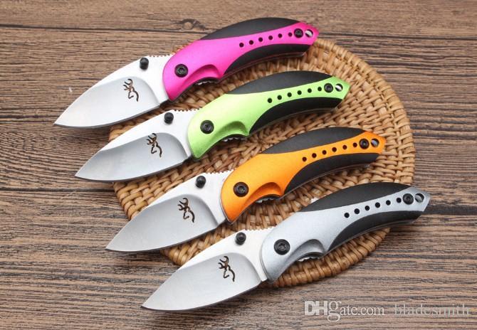 (Productos de calidad de exportación) Browning - Little Penguin Cuchillo plegable EDC Outdoor Camping Pesca Defensa Regalo de Navidad 1pcs