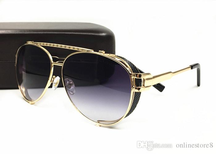 الرجال الفاخرة النساء العلامة التجارية النظارات الشمسية الأزياء الأشعة فوق البنفسجية حماية عدسة طلاء مرآة عدسة شخصية الإطار ظلال النظارات اللينات تأتي مع مربع