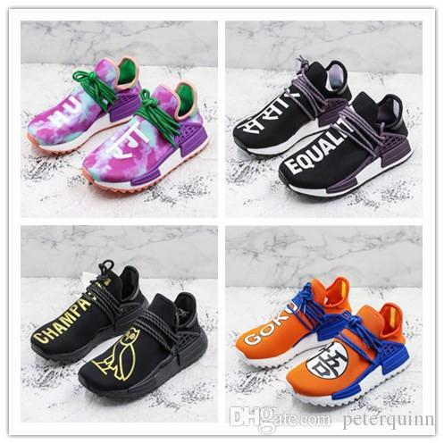 huge discount d9bbc ab39d Compre Con Caja 2018 Más Nuevo Dragon Ball Z X Hu NMD Hombres Mujeres OVO  Sanskrit EQUALITY Pharrell Williams Running Sneakers Sport Zapatos Al Aire  ...