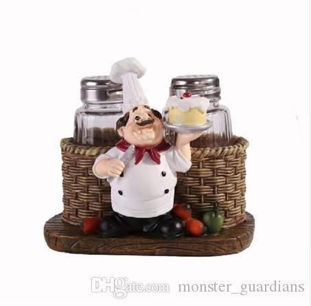 Sevimli Şef Biber Şişesi Süsler Ev Dekorasyon Aksesuarları Artesanato miniaturas manualidades Mutfak dekorasyon Reçine el sanatları