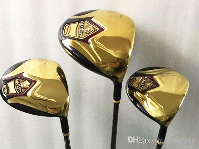 3PCS Maruman Majesty Super7 Wood Set Maruman Golf Woods Golf Clubs Driver + Fairway Woods R/S Flex Graphite Shaft With Head Cover