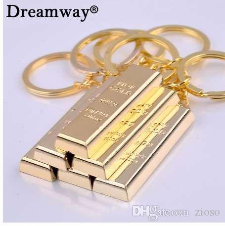 الذهب الخالص سلاسل مفاتيح ذهبية أقراط المرأة حقيبة يد سحر قلادة معدنية مفتاح مكتشف فاخرة رجل سيارة مفتاح خواتم التبعي
