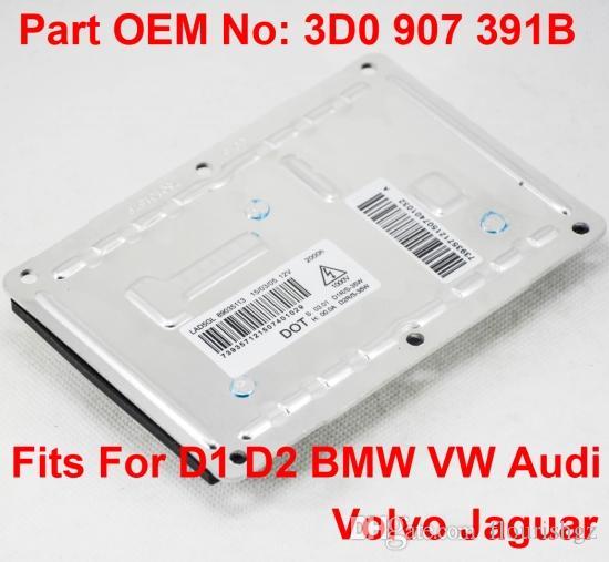 1PCS 12V 35W D1S D2S OEM HID Xenon Faros Faros Unidad de control de computadora Número 3D0 907 391B Se adapta a BMW VW Audi Volvo Jaguar Precio: EE. UU.