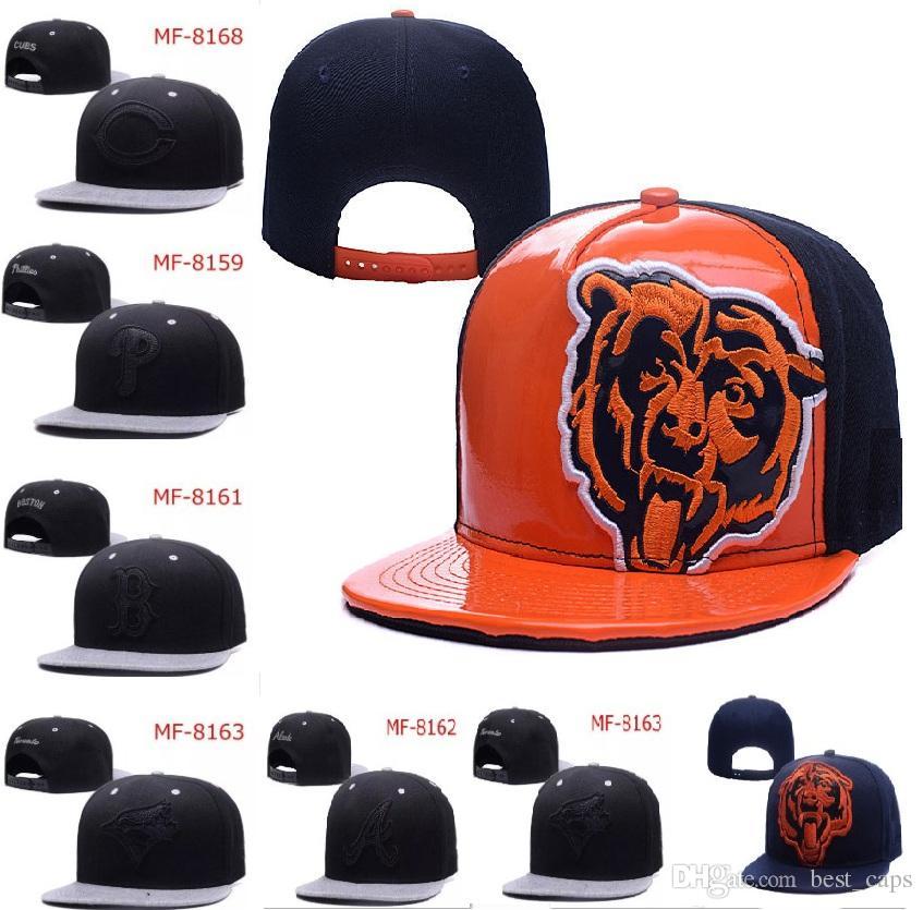 Wholesale Amerika Sports Hysteresen-aller Teambaseballfußball Hüte Hip Hop-Hysteresen Frauen-Mann-Kappen-justierbare Sporthüte DHL geben Verschiffen frei