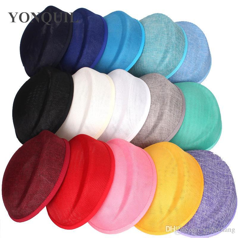 Charme 15 Couleurs Imitation Sinamay base de fascinateur bricolage pillbox chapeau femmes parti chapeaux matériel Occasion mariage accessoires de cheveux artisanat