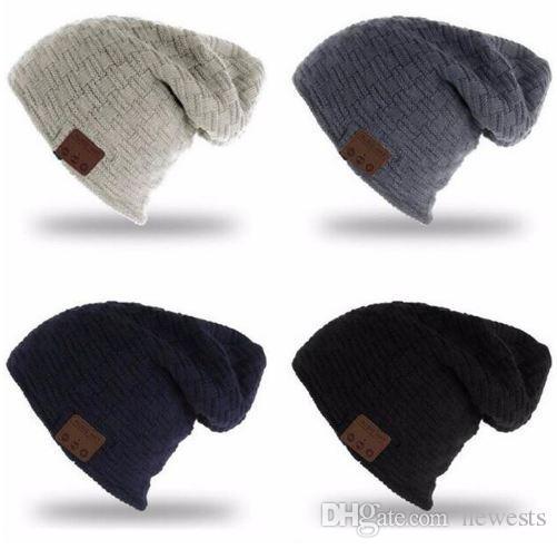 قبعة صغيرة 3.0V بلوتوث اللاسلكية محبوك زائد المخملية الشتاء قبعة سماعة سماعات هيئة التصنيع العسكري اليد خالية موسيقى Mp3 سحر الذكية