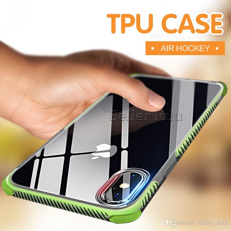 Caso transparente à prova de choque para iphone 8 plus iphone x gel macio tpu case limpar tampa traseira para o iphone 7 com pacote de opp