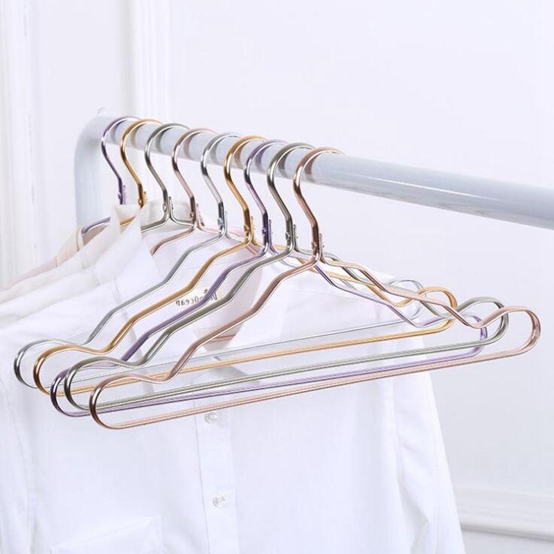 Aleación de aluminio de la suspensión de aluminio del espacio ninguna ropa de la rastro ayuda la ropa antideslizante del hogar que cuelga el estante de la ropa a prueba de herrumbre a prueba de viento