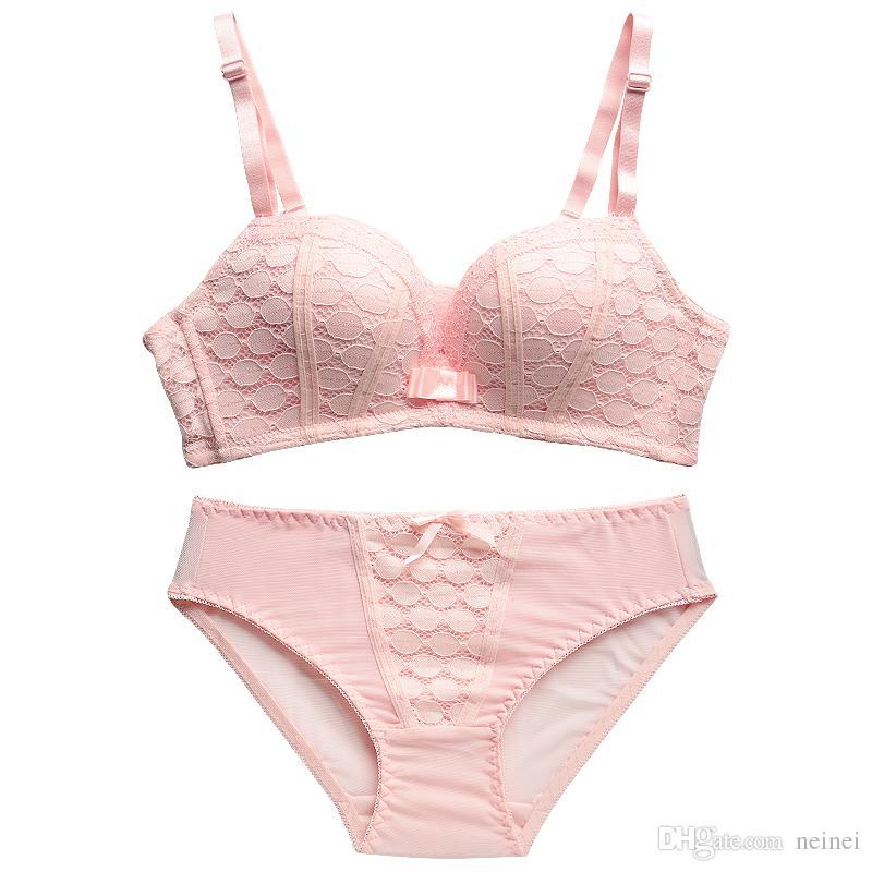 Yeni Moda Lady Dantel Iç Çamaşırı Kadın Set Push Up Sütyen Dikişsiz Seksi Sütyen Kablosuz Sütyen Küçük Meme Lingerie Set Için