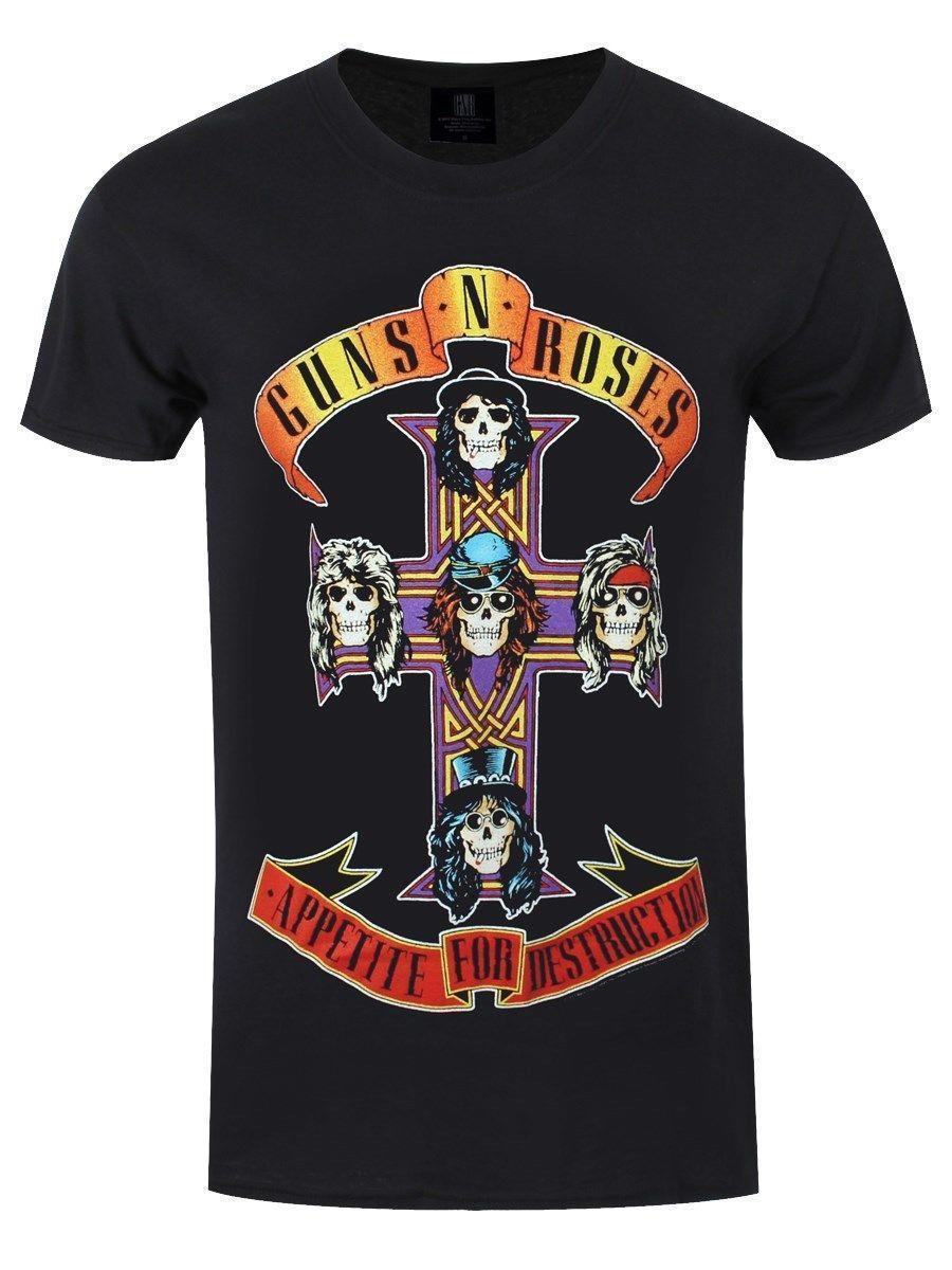 Guns N Roses Appetite For Destruction Men'S Black T Shirt Humor Shirts Offensive T Shirt From Amesion36, $12.08  DHgate.Com
