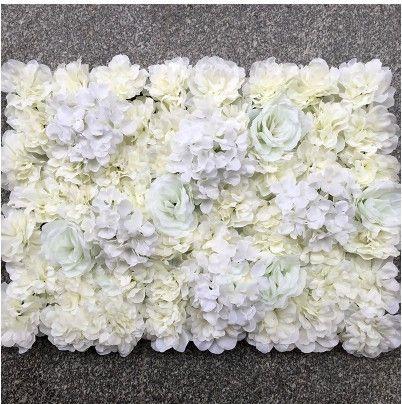 جديد 20 قطع أنيقة الحليب الأبيض روز الكوبية زهرة جدار الزفاف خلفية الديكور المركزية لوازم 40x60 سنتيمتر لكل قطعة