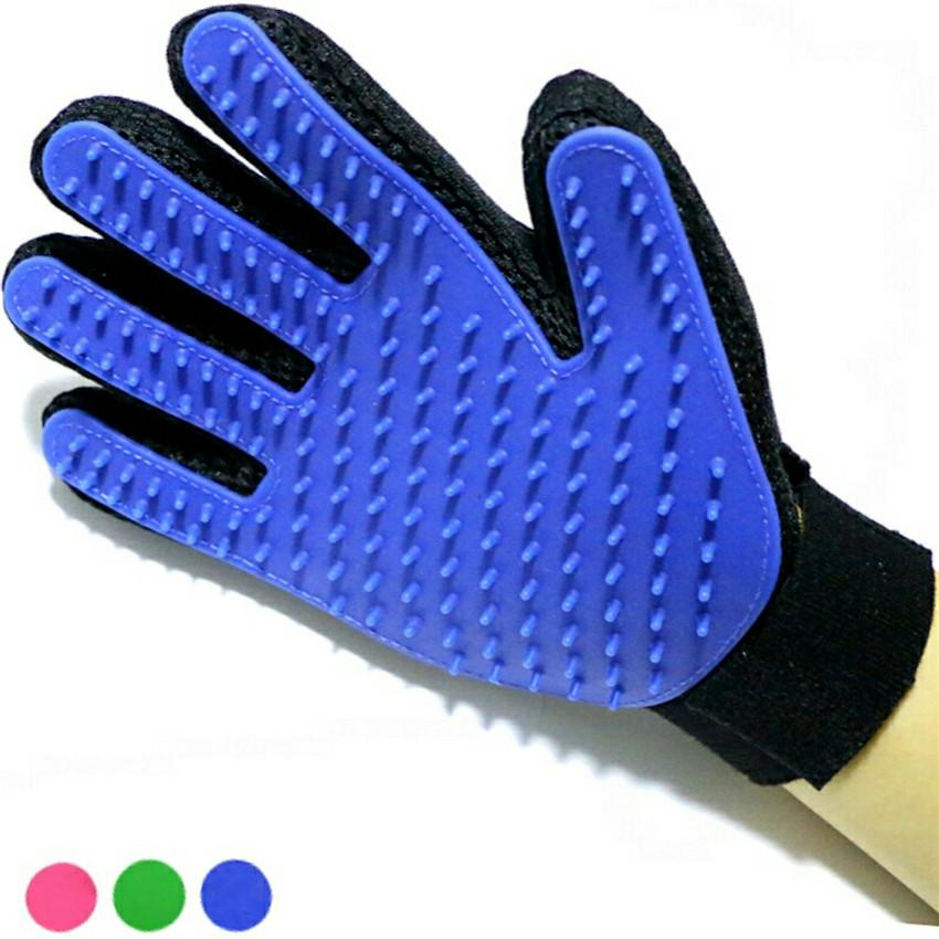 Pet bath gloves Remove dirt massage fingers silicone gloves cats dogs cleaning products Pet massage grooming hair CW31