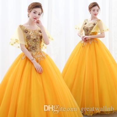 100% vera manica a farfalla dorato / blu royal abito da ballo principessa Abito medievale Abito rinascimentale sissi abito da principessa Abito da ballo vittoriano
