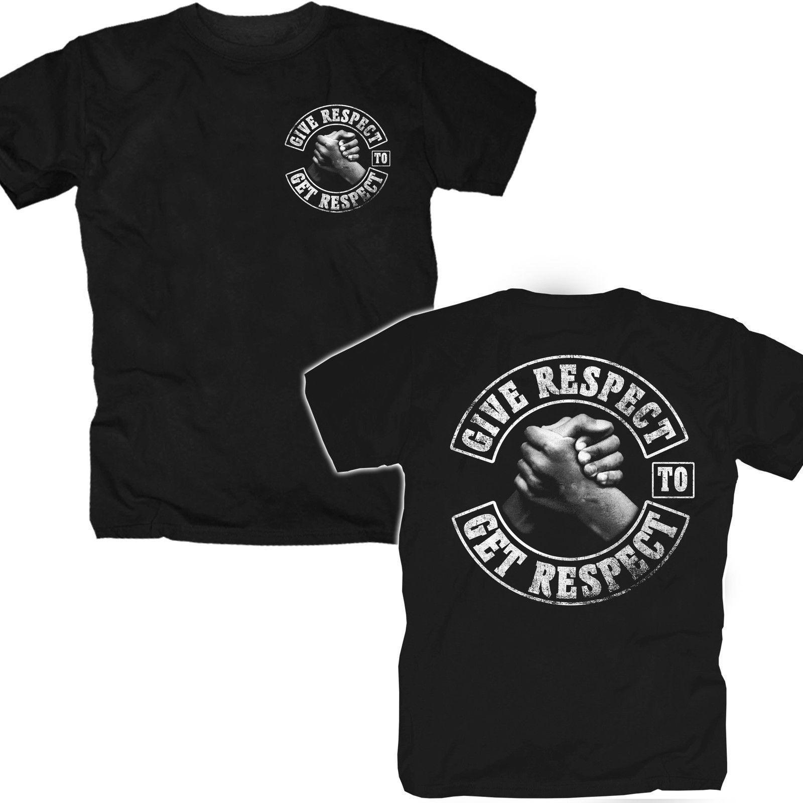 Camiseta Camiseta Respeto Brotherhood Outlaw Biker Chopper Tattoo Mc Coast Rocker T-shirt Tops Verano Cool Funny T
