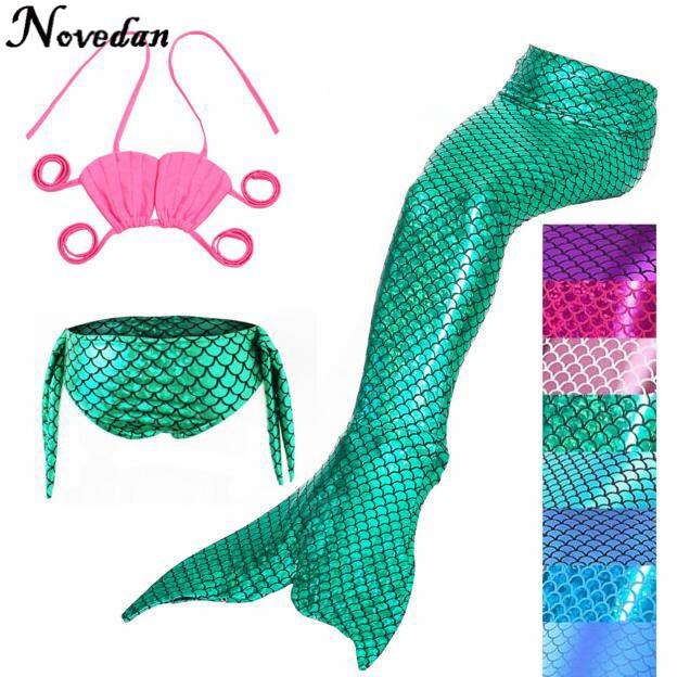 The Little Mermaid Tail Costume Princess Ariel Children Mermaid