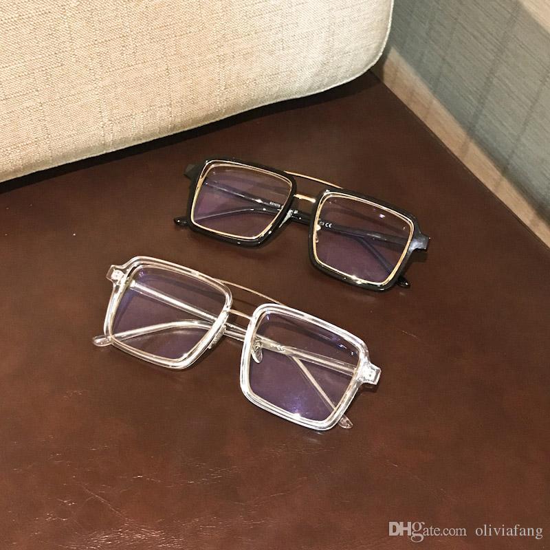 السيدات ساحة نظارات إطارات للنساء البلاستيك الساقين مصمم النظارات البصرية موضة نظارات نظارات الكمبيوتر مع عدسة واضحة تماما eyegl