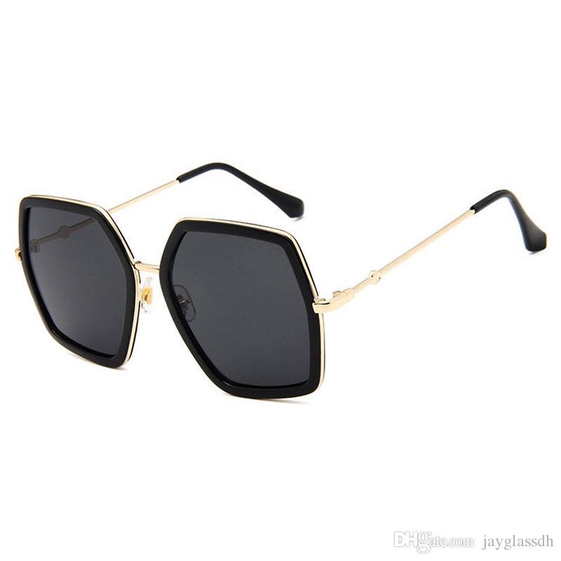 ساحة جديدة فاخر مصمم النظارات الشمسية العلامة التجارية الإطار السيدات المتضخم كريستال نظارات شمسية نسائية كبيرة مرآة نظارات شمسية للإناث UV400