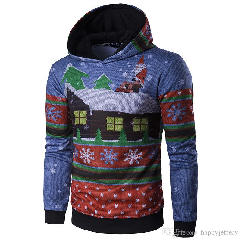 Hoodie Hommes Noël Orignal Design Casual Pullover Cadeau De Noël 3D Print WT290