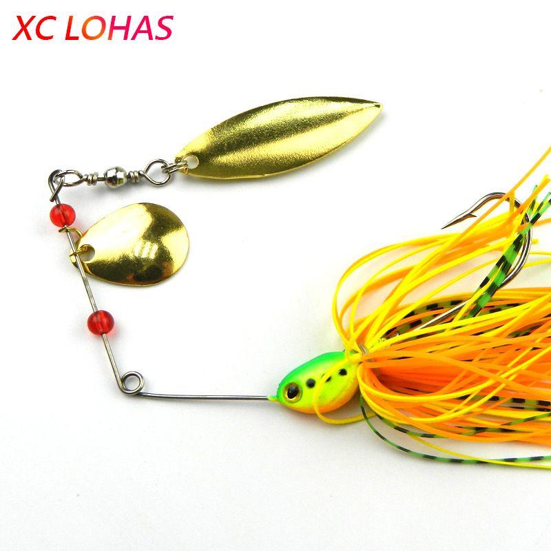 1 шт. 18.3 г блесны приманки двойной отражающей Золотой металлической ложкой жужжание приманки 3D рыбий глаз рыболовную приманку с колючим крючком SB001 Y18100906
