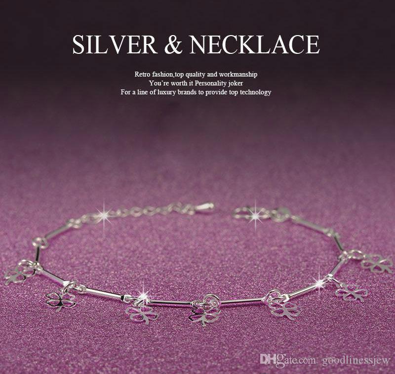 Braccialetti di moda Braccialetti di fascino del cuore Braccialetti di fascino di moda Braccialetti di catena di fascino dei bei braccialetti dell'argento sterlina 925 bei