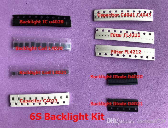 10sets / lot Backlight Fix Kit für iPhone 6S ic U4020 + L4020 L4021 Spule + D4020 D4021 Diode + Kondensator C4041 C4043 filtert F4211 F4212 Sicherungen