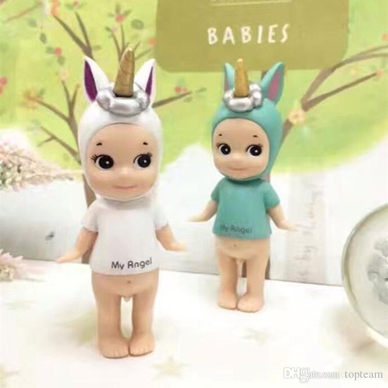 2pcs Set Sonny Angel Christmas Set Styles PVC Action Figure 8cm Hot Sale Unicorn Home Decoration for Christmas Gift