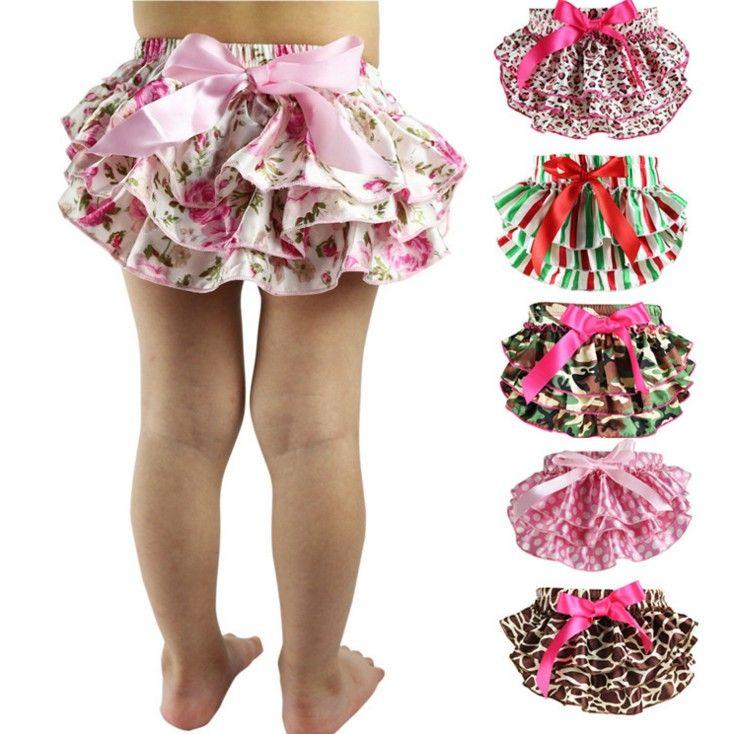 Bebek kız güzel leke çiçek PP pantolon toddler fırfır külot külot bebek bezi kapak çocuk külot çiçekler külot kısa