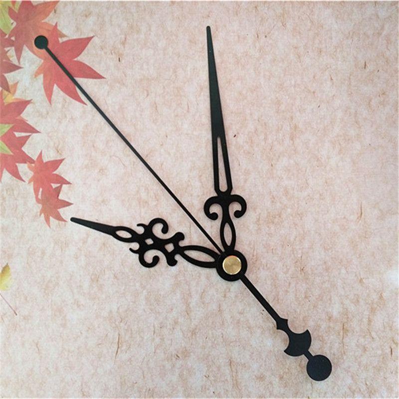 도매 50pcs 메커니즘 키트에 대 한 금속 검은 손 DIY 귀하의 벽 쿼츠 시계